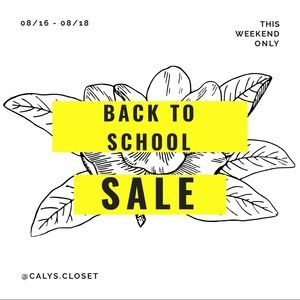Other - Back to School Sale!
